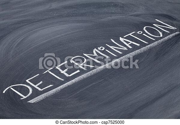 determination word on blackboard - csp7525000