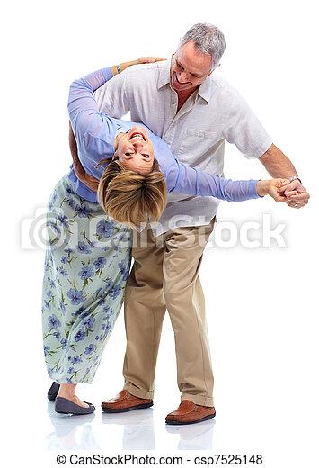 Happy elderly couple. - csp7525148