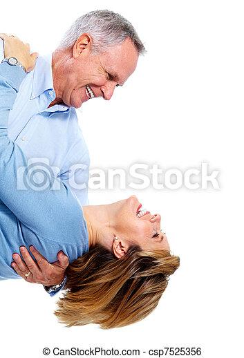 Happy elderly couple. - csp7525356
