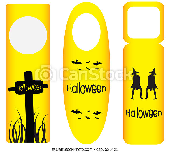 do not disturb door hanger with halloween design - csp7525425