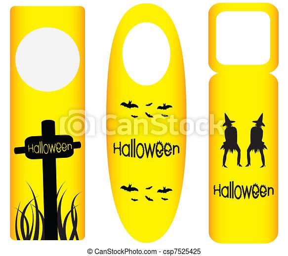 do not disturb door hanger with halloween design - csp7525425