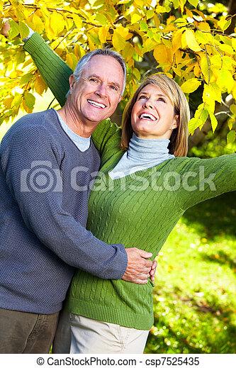 Elderly couple. - csp7525435