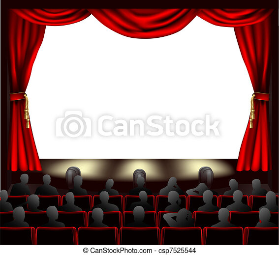 Cinema with audience - csp7525544