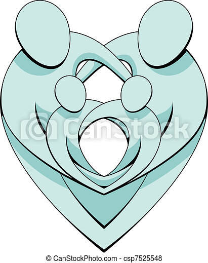 Heart Family Concept Graphic - csp7525548