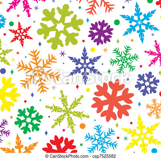colorful snowflakes - csp7525582