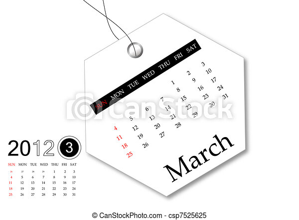 March of 2012 calendar  - csp7525625