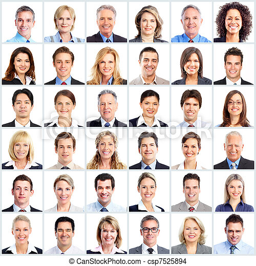 équipe,  Business, gens - csp7525894