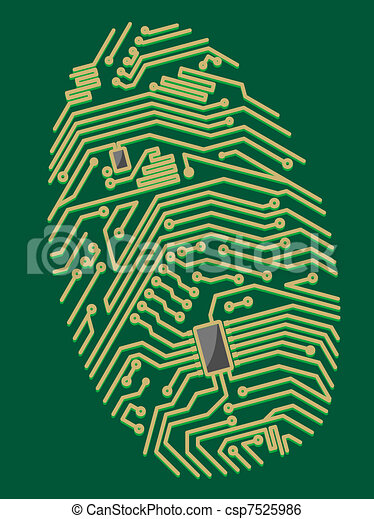 Color motherboard fingerprint - csp7525986