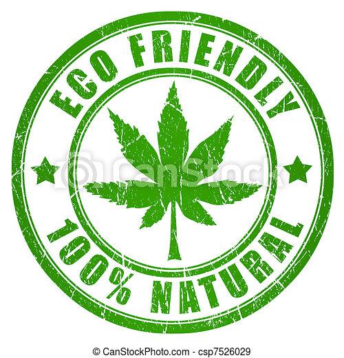 Cannabis eco friendly stamp - csp7526029