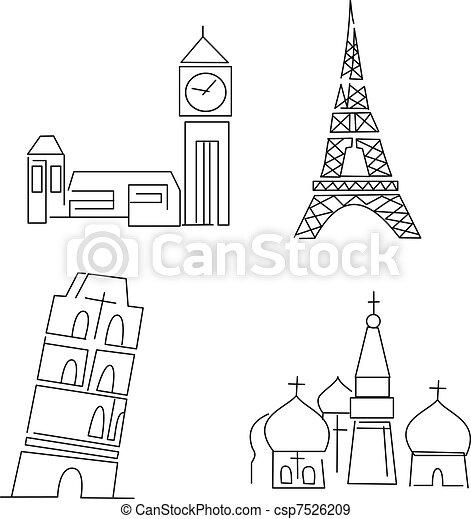 europe landmarks - csp7526209