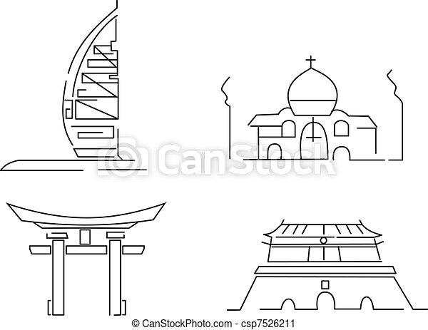 asia landmarks - csp7526211