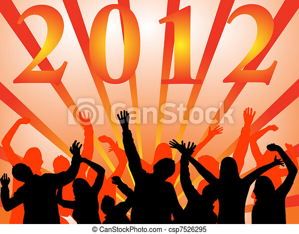 new years eve 2012 - csp7526295