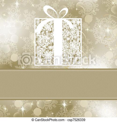 Elegance gift box. EPS 8 - csp7526339