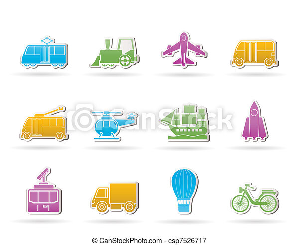Travel and transportation icons - csp7526717