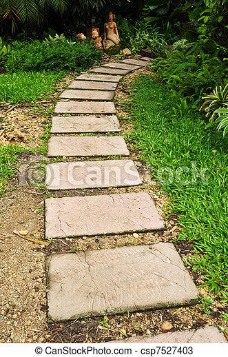pedra jardim caminho : Banco de fotos de caminho, pedra, jardim - pedra, caminho ...