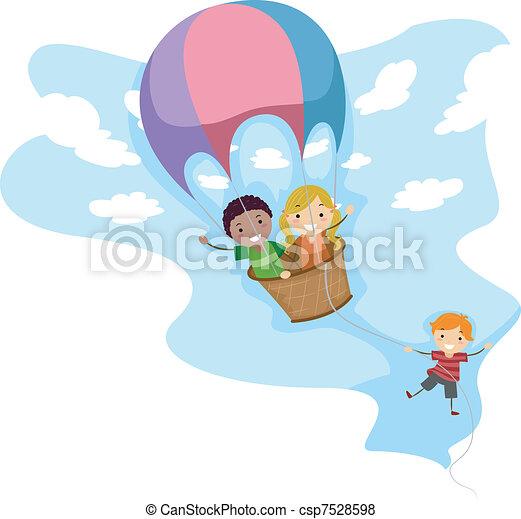 Hot Air Balloon Adventure - csp7528598