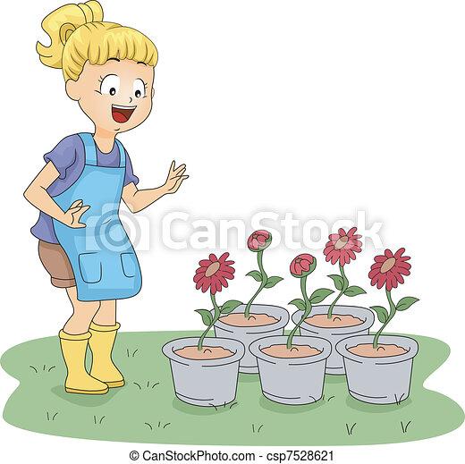 Garden Visit - csp7528621