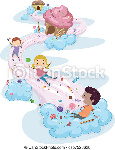 Candy Land Kids - csp7528628
