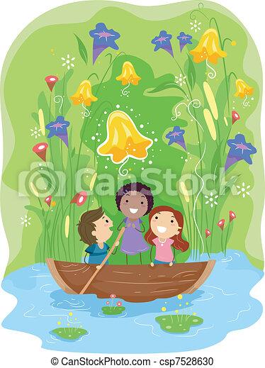 Pond Adventure - csp7528630