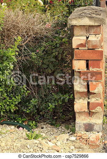 demolished wall end