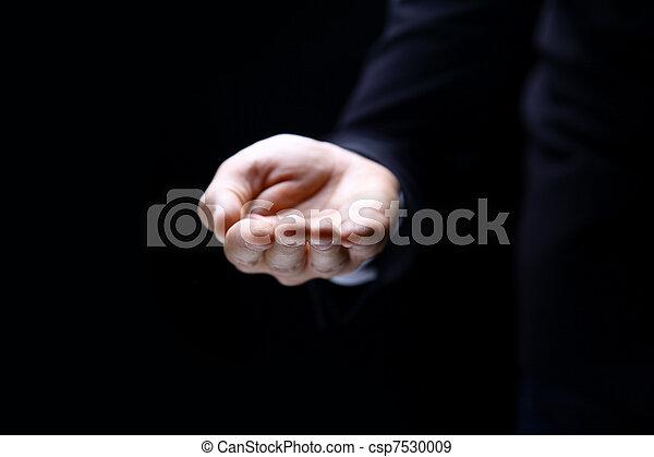 símbolo, mano - csp7530009