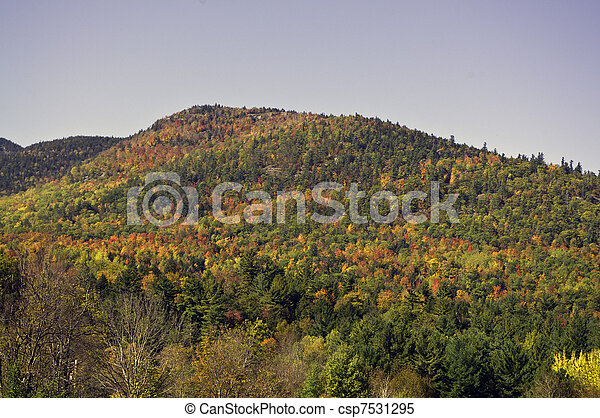 Fall in the Adirondack Mountains - csp7531295