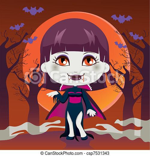 Lady Vampire - csp7531343