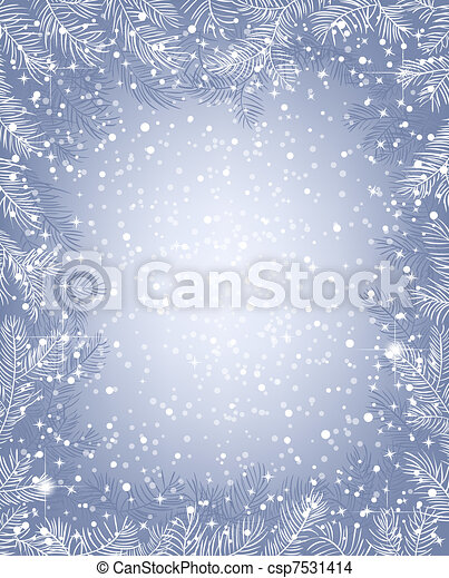 Frame of fir branches - csp7531414