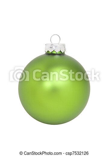 Green Christmas Ornament - csp7532126