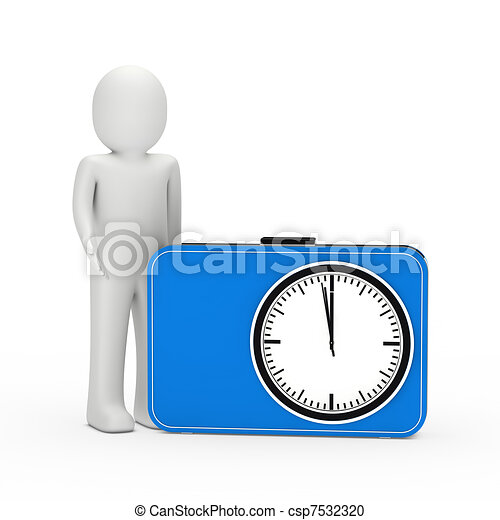 3d man blue time glock - csp7532320