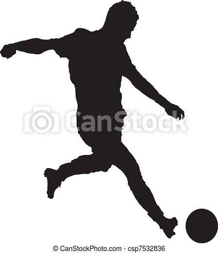 A man playing soccer - csp7532836