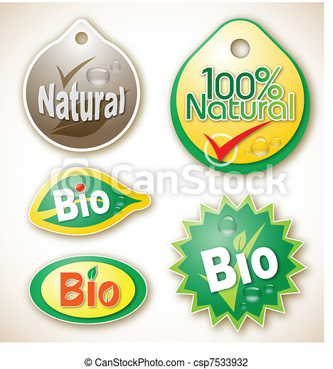 Natural and bio product labels - csp7533932