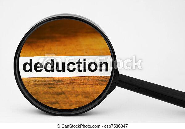 Deduction  - csp7536047