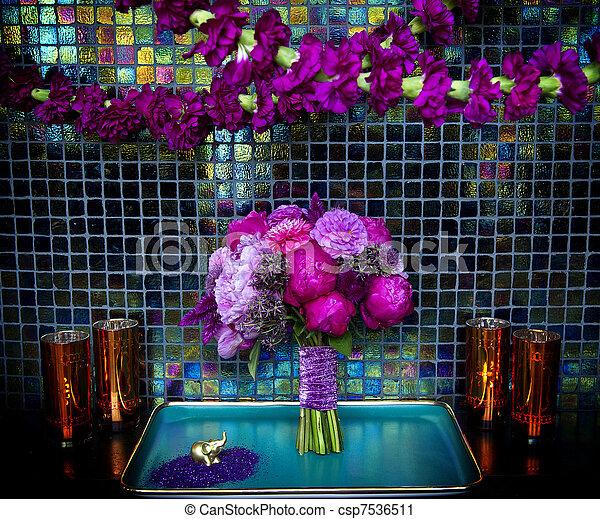 Wedding Bouquet for bride - csp7536511