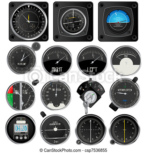 Aircraft instruments collection - csp7536855