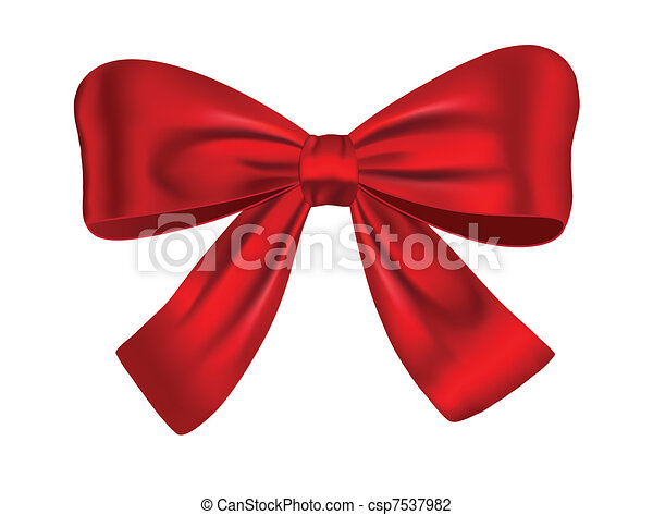 Red gift bow - csp7537982