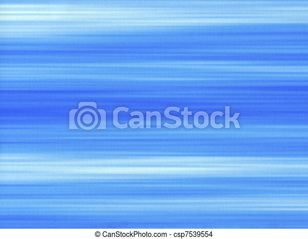 Blue paint brush strokes lines on a paper background. - csp7539554