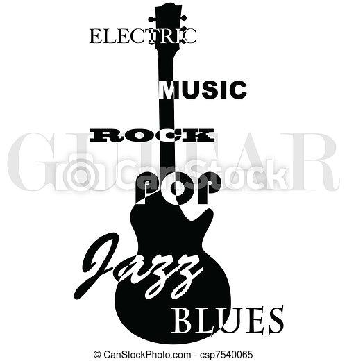 Guitar music - csp7540065