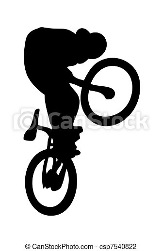 Clip Art of BMX csp7540822 - Search Clipart, Illustration ...