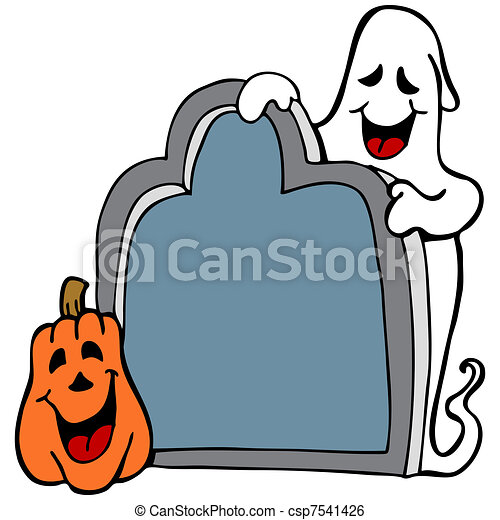 Blank Tombstone Clipart Tombstone ghost pumpkin -