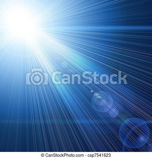 blue light beam - csp7541623