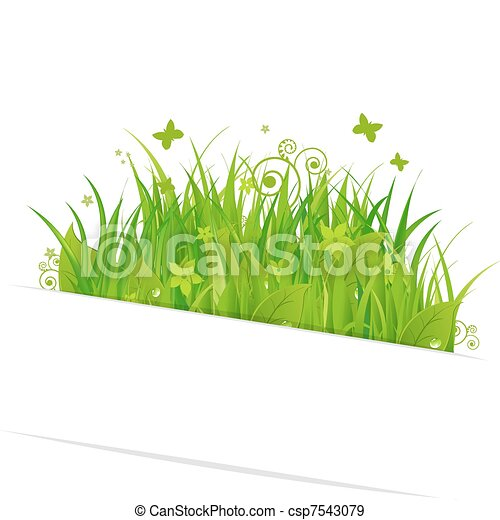 Paper Sticky With Grass - csp7543079
