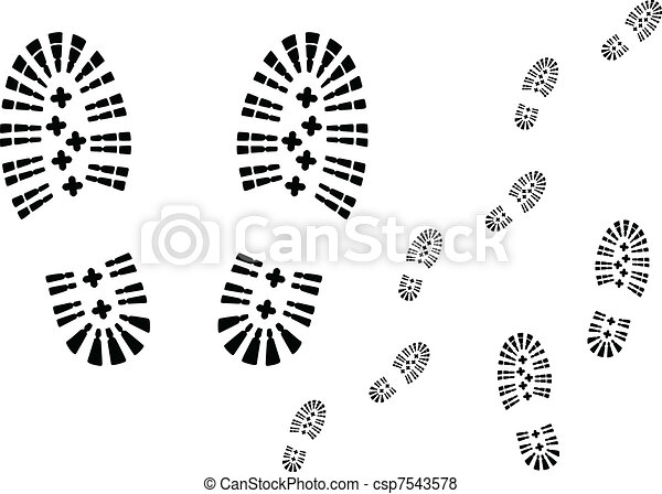 Shoe prints. - csp7543578