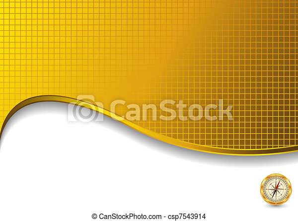 golden background with compass - csp7543914