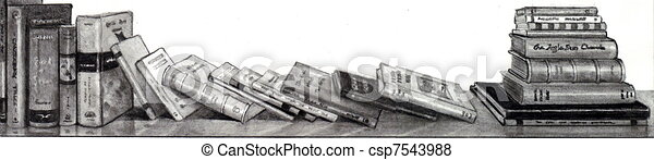 Book Pencil Drawing Pencil Drawing of Books on
