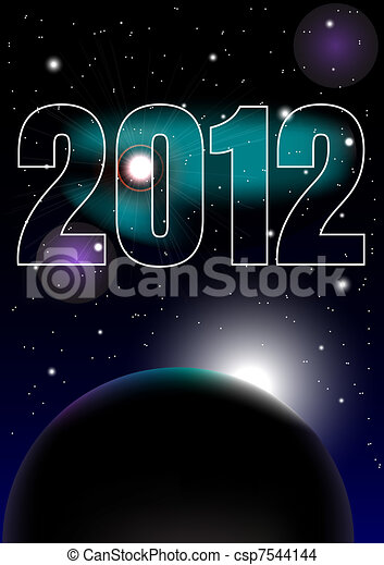 New Year Celebration 2012 Background - csp7544144