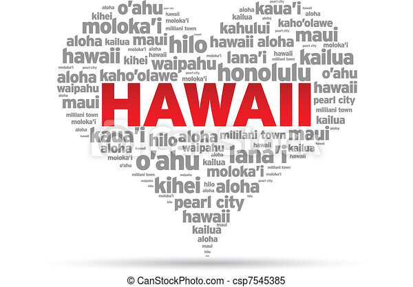I Love Hawaii - csp7545385