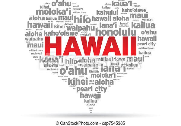 I Love Hawaii - csp7545385