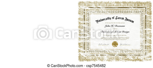 Vector Distressed Diploma - csp7545482