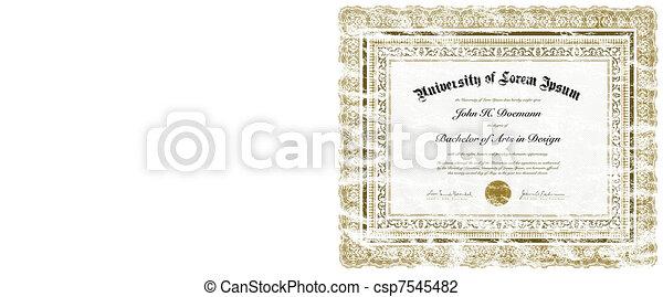 Vector Distressed Diploma - csp7545482